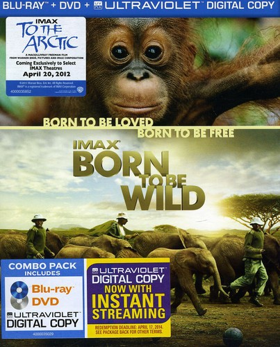 IMAX: Born to Be Wild (Blu-ray + DVD + Digital Copy) by WARNER HOME ENTERTAINMENT