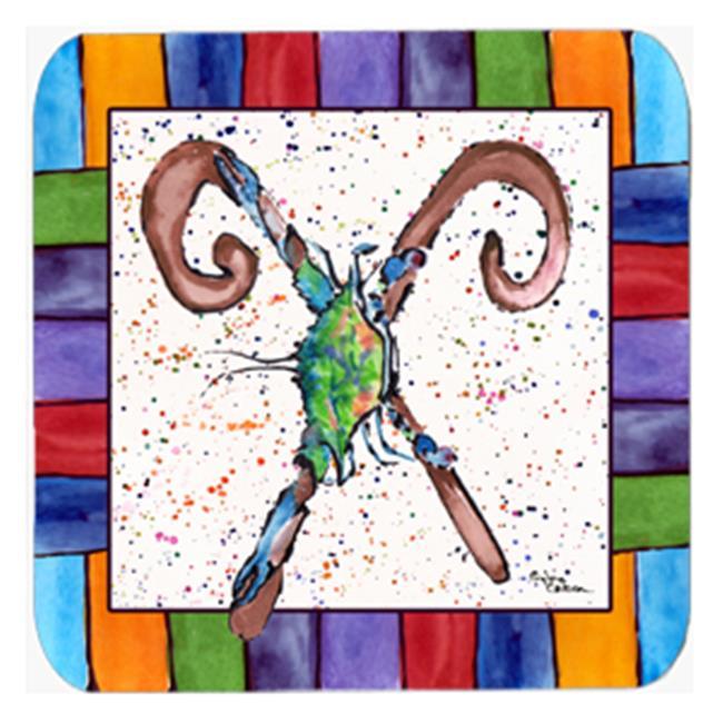 Crab Foam Coasters - Set 4, 3.5 x 3.5 In. - image 1 of 1