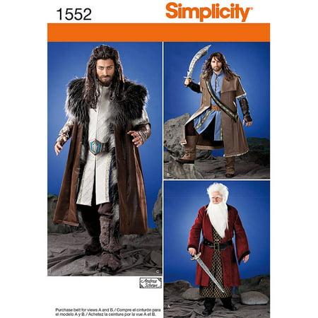 Simplicity Patterns Crafts Costumes, XS-S-M-L-XL - Gandalf Cloak Pattern