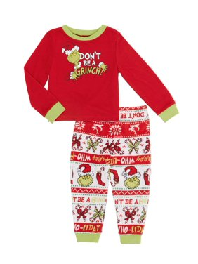 Matching Family Pajamas Toddler Boy or Girl Unisex 2-Piece Dr. Seuss The Grinch Set