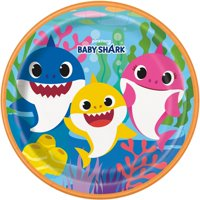 Baby Shark Paper Dinner Plates, 9in, 24ct