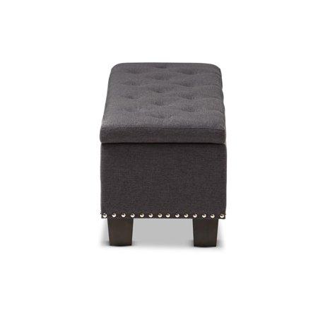 Hawthorne Collection Storage Bench in Dark Gray - image 3 de 8