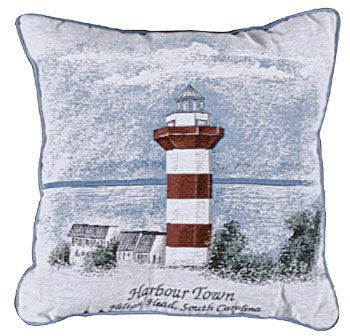 Harbour Town Decorative Tapestry Toss Pillow