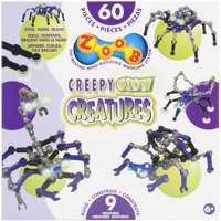 Zoob Pieces 60/Pkg-Creepy Glow Creatures