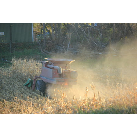 LAMINATED POSTER Agriculture Autumn Corn Picker Harvest Corn Poster Print 24 x 36 ()