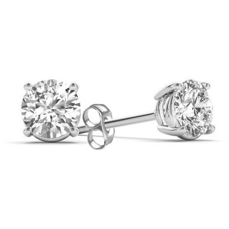 1 Carat T.W. Diamond 14kt White Gold Classic Stud Earrings