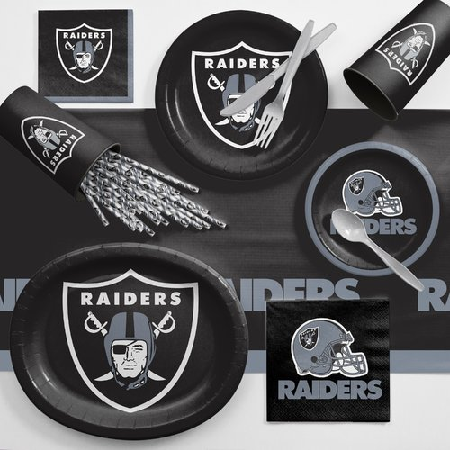 Oakland Raiders Ultimate Fan Party Supplies Kit