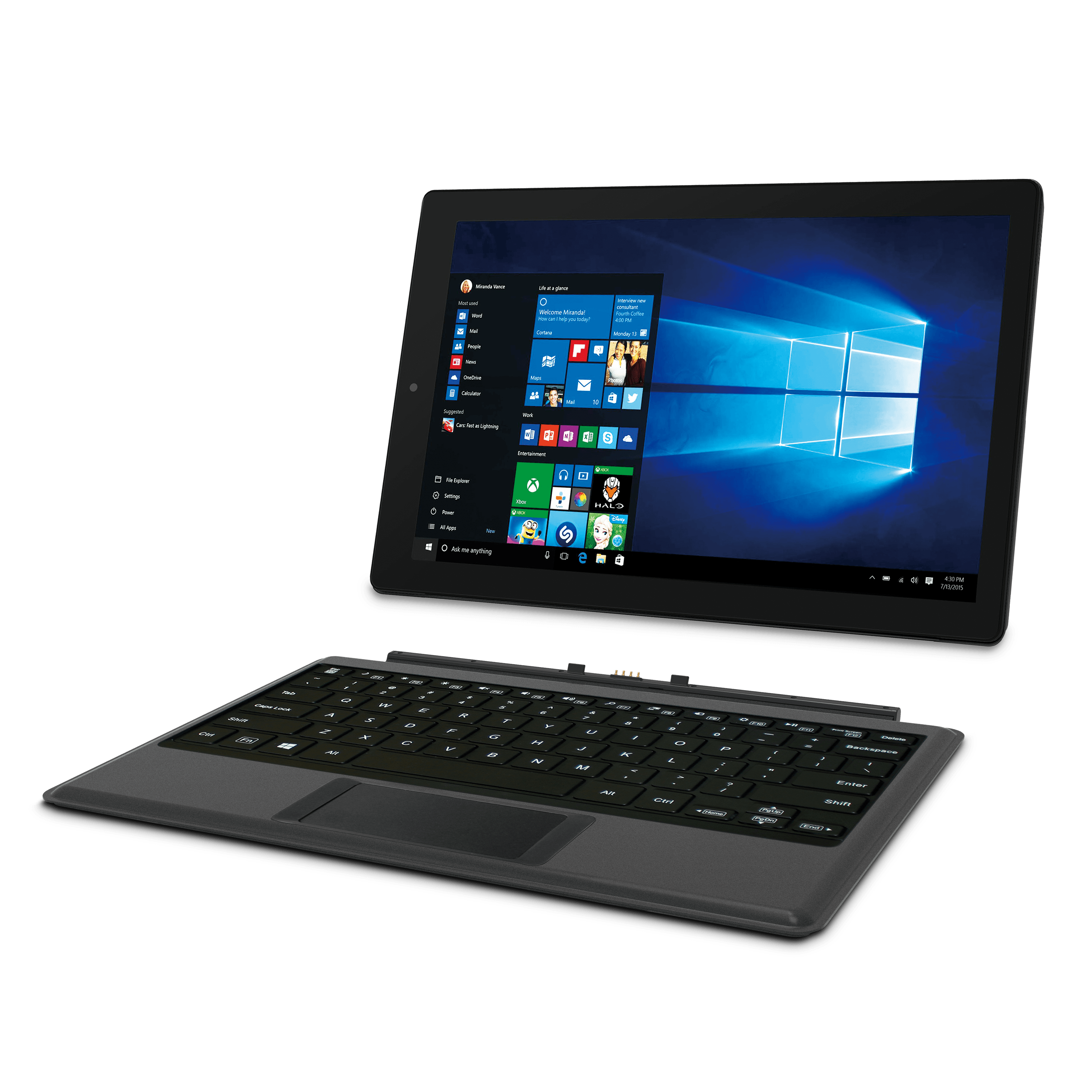 "12.2"" Windows 2-in-1 Tablet with Travel Keyboard"
