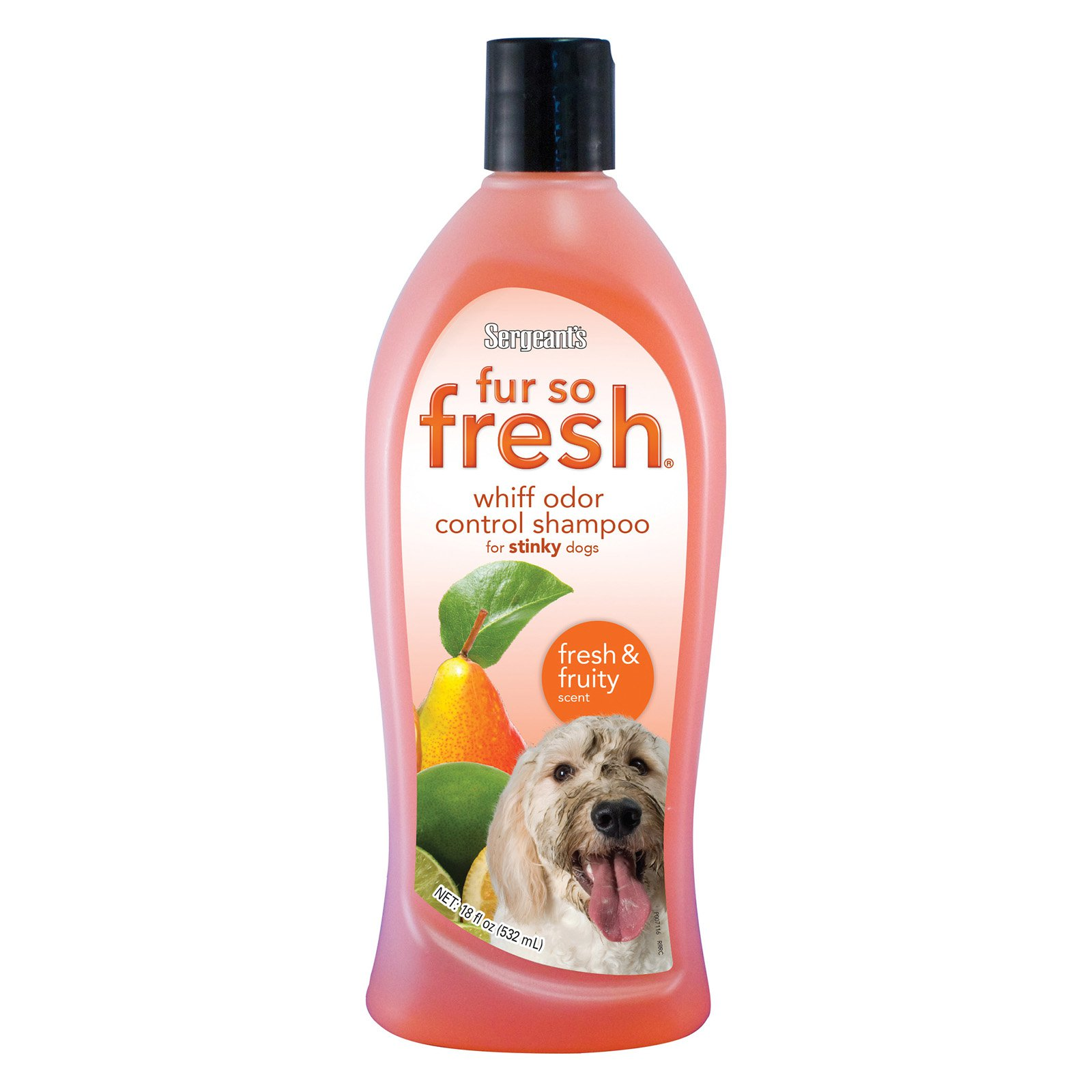 Sergeants 03806 18 oz Fruity Fur So Fresh Whiff Odor Control Shampoo
