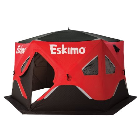 Eskimo FatFish 6120i Insulated 5-7 Person Pop Up Ice Fishing Shanty Shelter