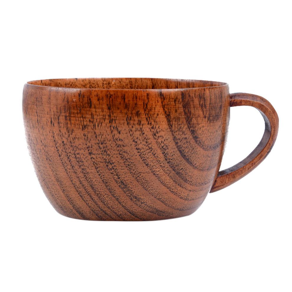 260ml   8.8 oz Natural Jujube Bar Wooden Cups Mugs With Handgrip Coffee Tea Milk Travel... by