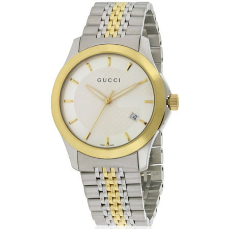 4f207e5380e Gucci - Gucci G-Timeless Two-Tone Stainless Steel Mens Watch YA126409 -  Walmart.com