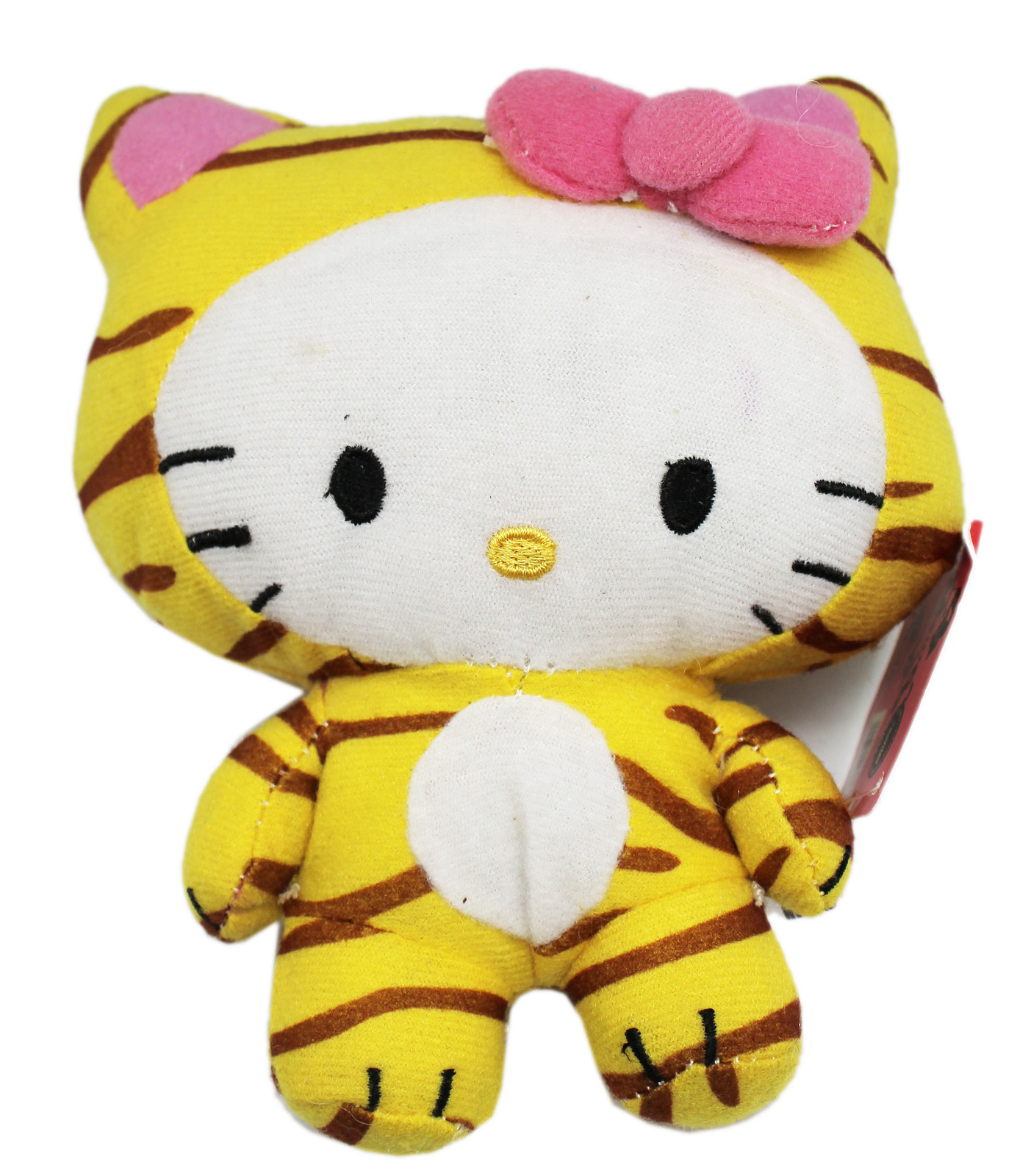 Hello Kitty In a Tiger Stripe Outfit Stuffed Plush Toy (6in) by