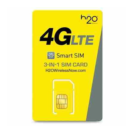 H2O Wireless 3-in-1 SIM Card Starter Kit (for GSM Unlocked