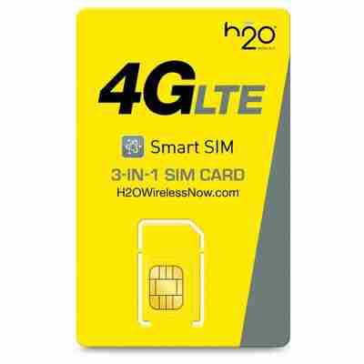 H2O Wireless 3-in-1 SIM Card Starter Kit (for GSM Unlocked Phones) (Unlock Phone Sim)