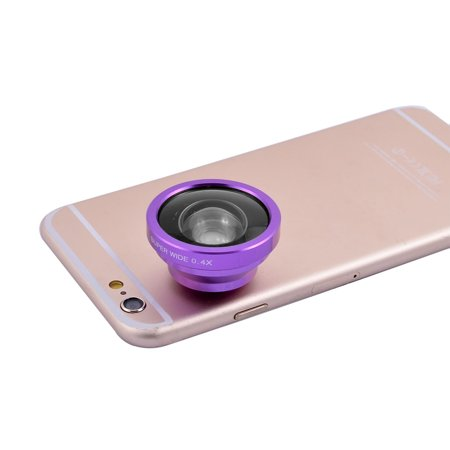 Universal Clip HD Super Wide 0.4X Angle Selfie Cam Lens Purple for Cell - Purple Leis