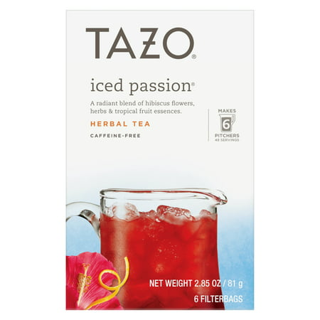 Tazo Iced passion Tea Bag Herbal Tea 6ct