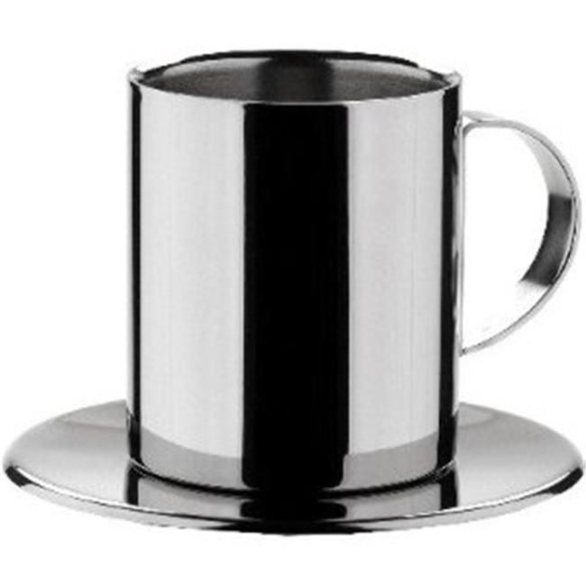 MIU France 3662 Cappuccino Cups - Stainless - Set Of 2