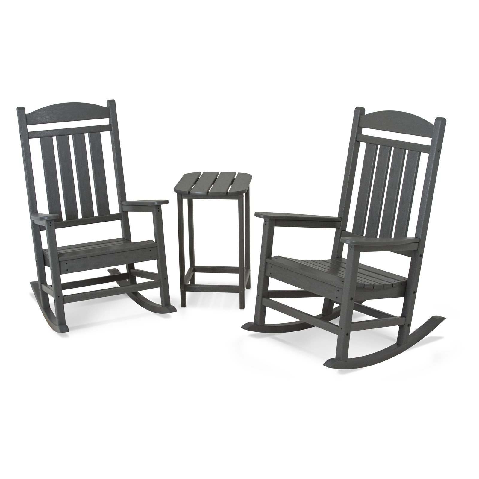 POLYWOOD® Presidential 3 pc. Recycled Plastic Rocker Set with Tall Side Table