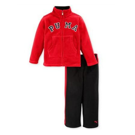 34467ba03d4c Puma Toddler & Little Boys 2 Piece Red & Black Fleece Jacket & Pants Set