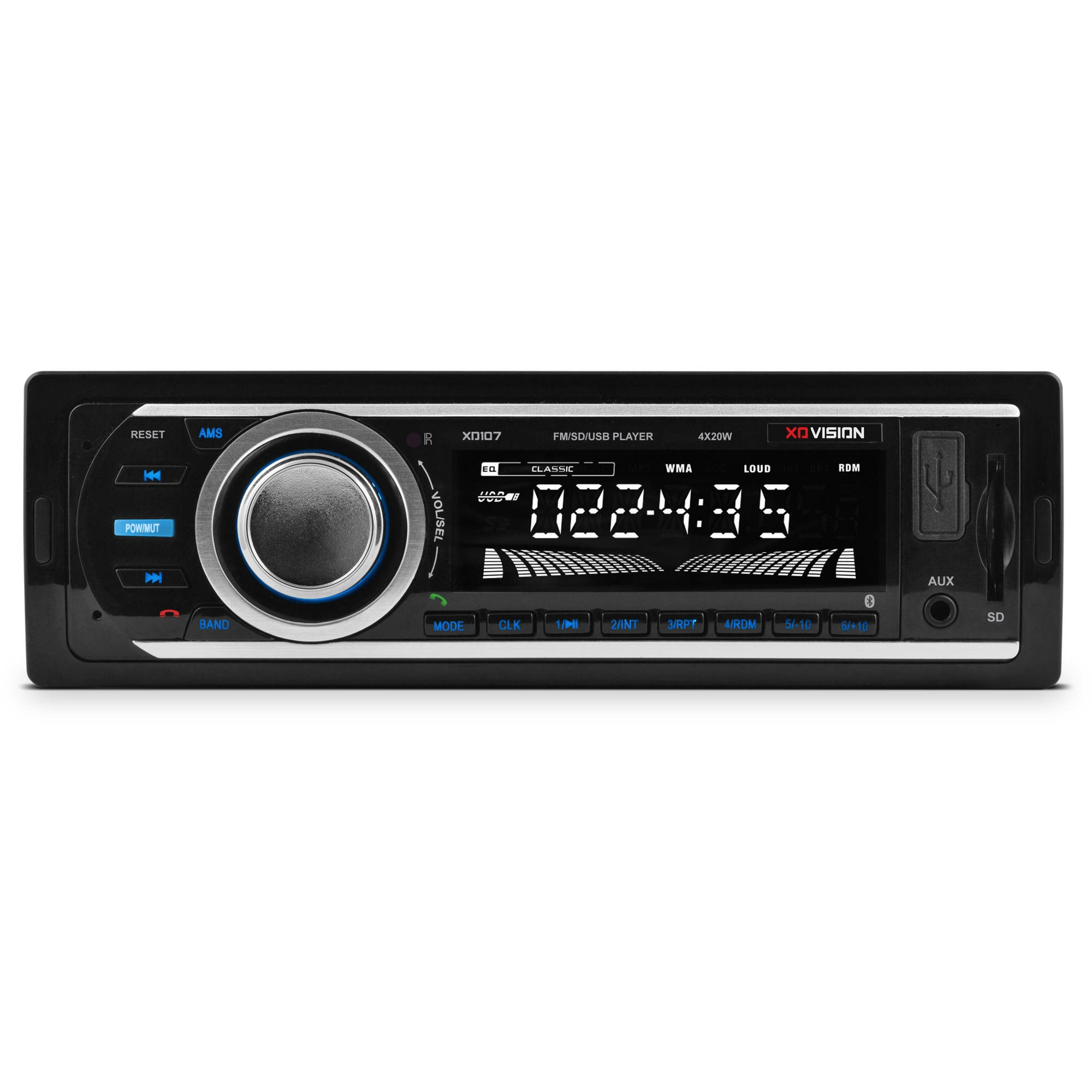 Xo Vision Xd107 Single-din In-dash Fm/mp3 Stereo Digital Media Receiver With Usb Port & Sd Card Slot