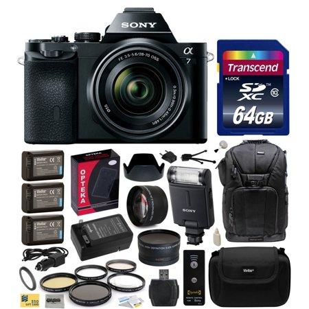 Sony a7K A7 Full-Frame DSLR 24.3 MP Interchangeable Digital Lens Camera with FE 28-70mm f 3.5-5.6 OSS Lens... by