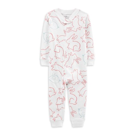 Little Planet Organic by Carter's Baby Girl Footless Snug Fit Cotton Zip Up Sleeper Pajamas Cotton Baby One Piece