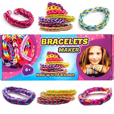 Bracelets Maker Set Craft Your Own Rubber Bands Loom Creator For Kids Colorful Jewelry Bracelet Making Kit Diy