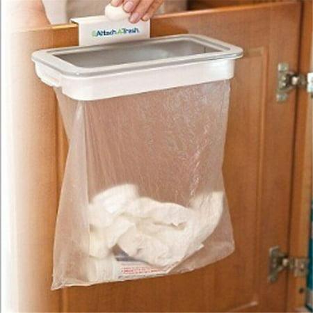 Coolmade Portable Trash Bag Holder Hanging Kitchen Cupboard