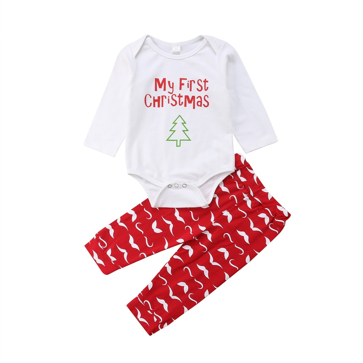 Fiomva - Baby Boys Girls My First Christmas Outfits Newborn Long ...