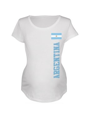 World Cup Argentina White Womens Soft Maternity T-Shirt - Large