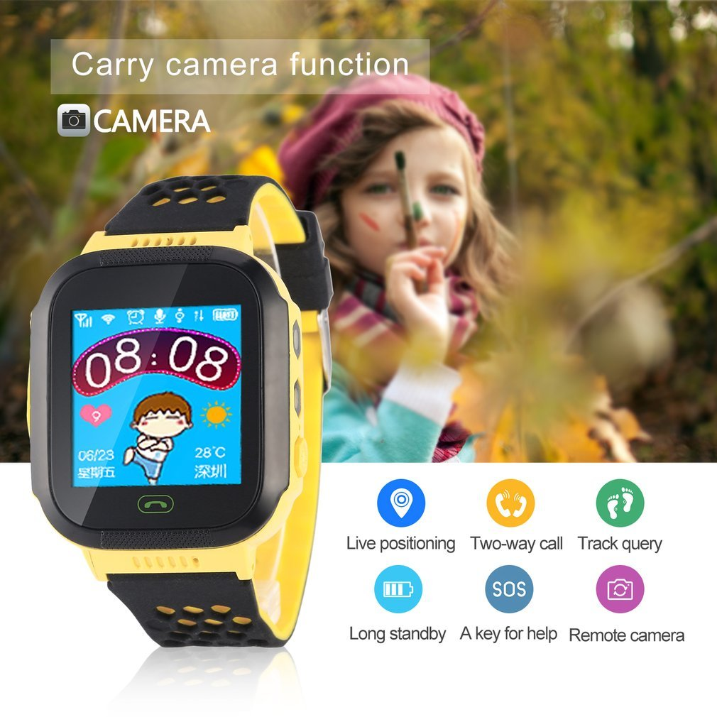 Remote Camera SOS Emergency Alarm Watch Alarm Intercom Phone Book Base Station Positioning Multifunction Children Smart... by LESHP