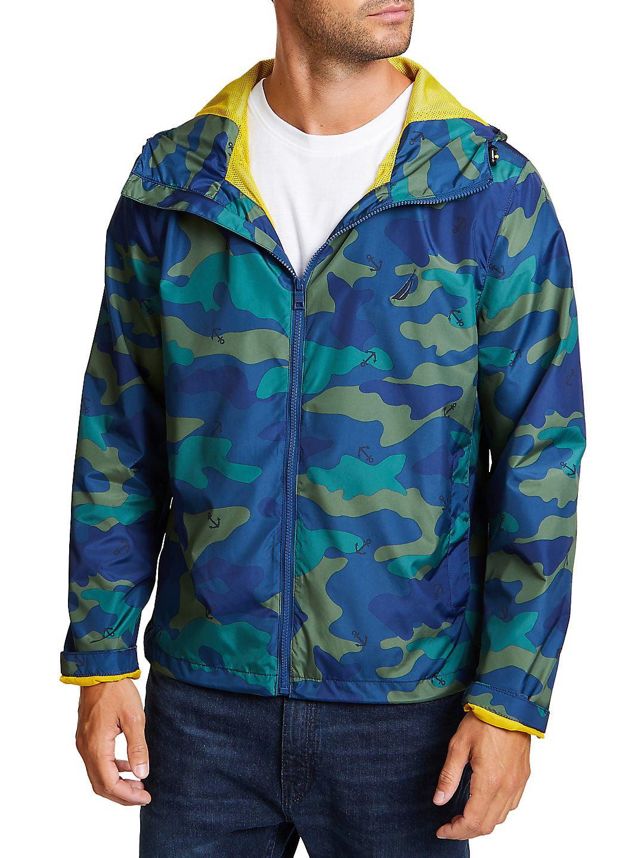 Camo & Anchor Hooded Jacket