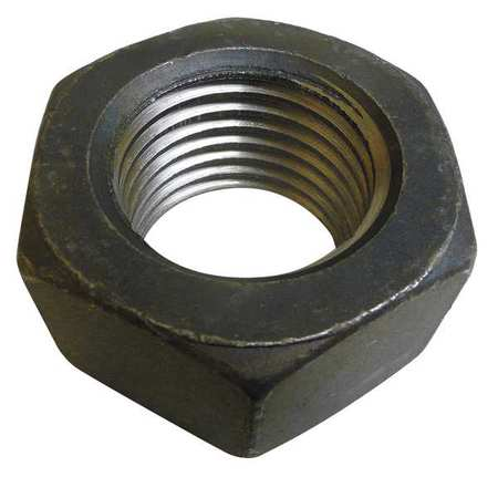 "GRAINGER APPROVED 2-1/2""-12 Grade 8 Plain Finish Carbon Steel Hex Nut, 301728G"