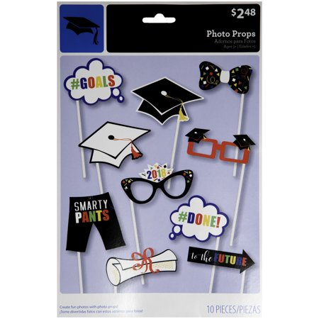 Class of 2018 Graduation Photo Booth Props, 10pc