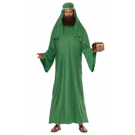 Adult Mens Christian Biblical Shepherd Nativity WiseMan Robe Costume STD GREEN