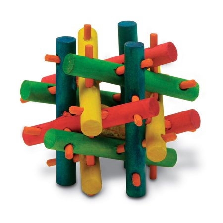 Kaytee Knot Nibbler Mini | Colorful Wooden Chew Toy for Small Animals Chew Small Animal Toy