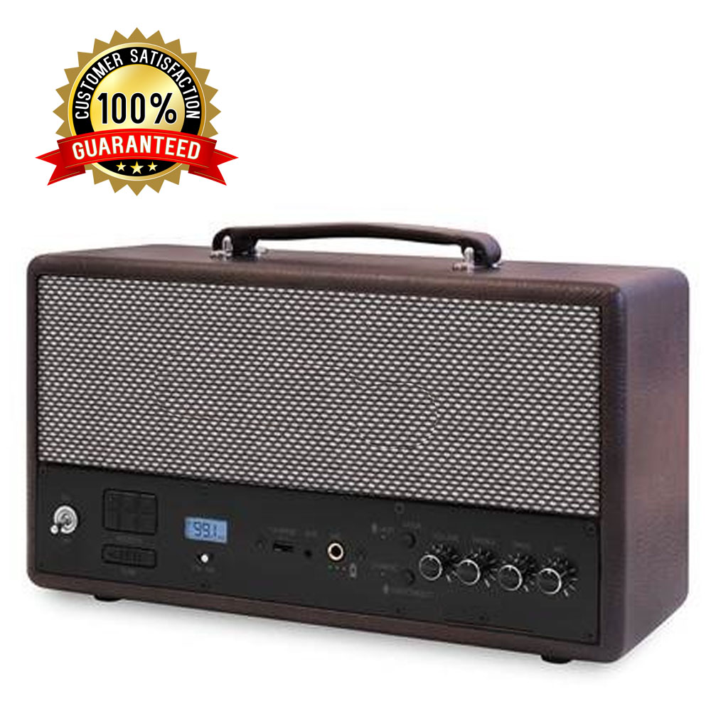 Lightweight Portable Clear Sound Perfect Clear Bass Outdoor Cordless Speaker With Digital Display - Black