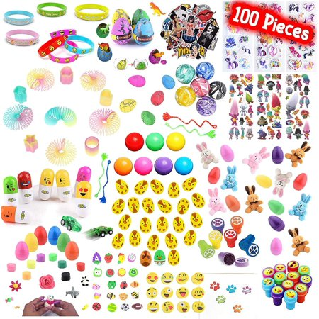 Playoly 100 Pieces Party Favor Kids Little Toys Assortment for Birthday, School, Carnival Prizes, Easter Party Packs, Goodie Bag, Stocking Stuffers and More - School Carnival Ideas