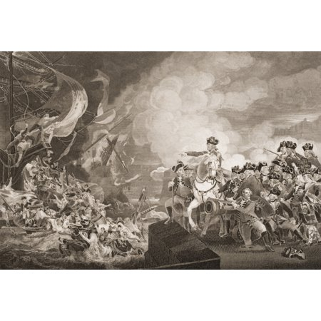 The Siege Of Gibraltar 1782 Engraved By G Stodart Painted By JSCopley From Englands Battles By Sea And Land By Lieut Col Williams The London Printing And Publishing Company Circa 1890S PosterPrint