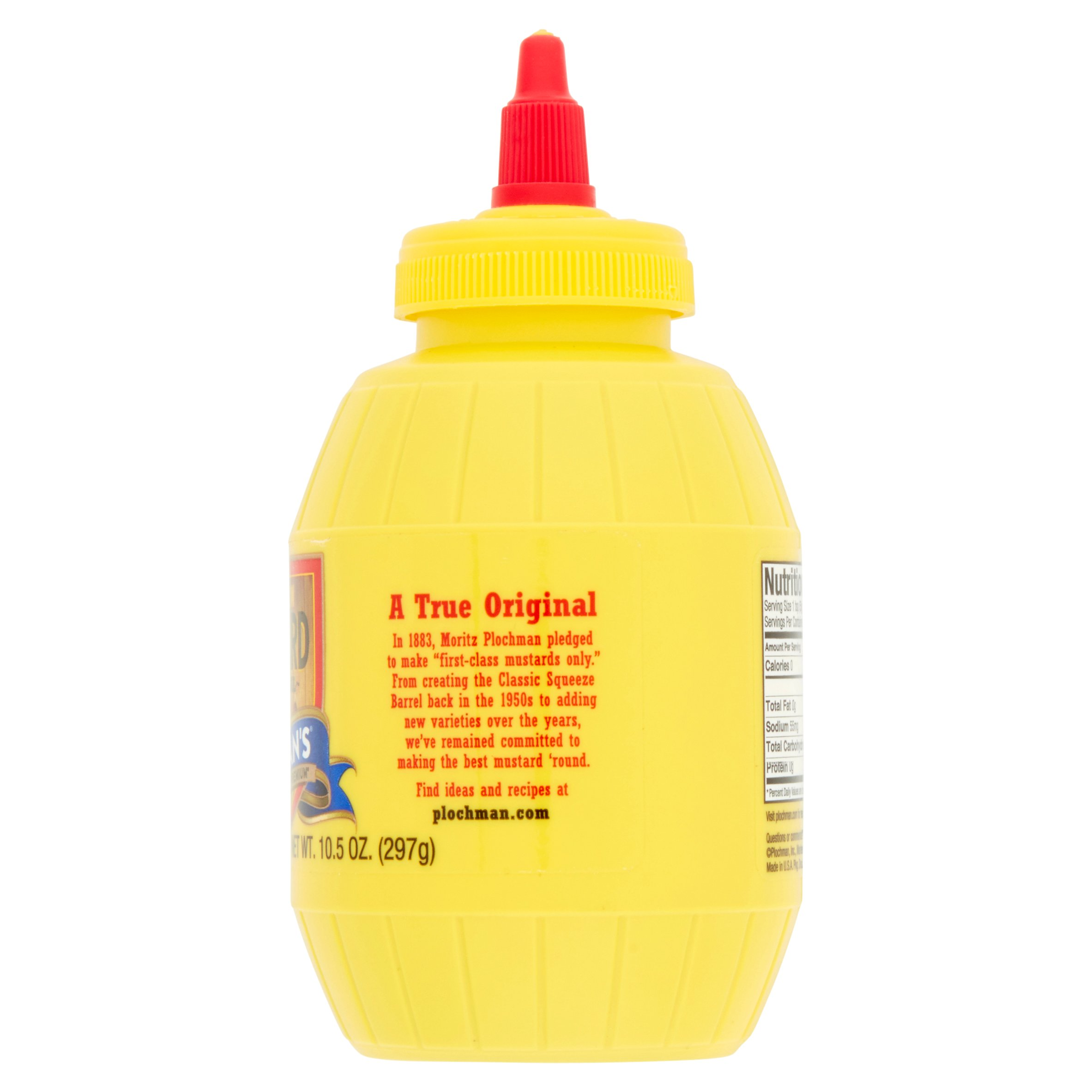Plochman's Premium Mild Yellow Mustard, 10 5 oz