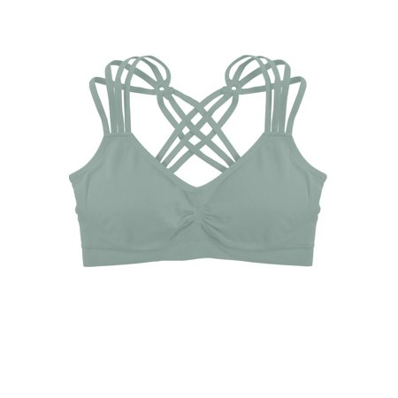 3e6521e4f3 Humble Chic NY - Criss Cross Padded Sports Bra - Light Support Seamless  Wireless Strappy Bralette