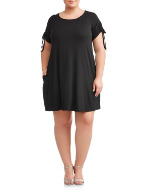 4595f503c Product Image Terra   Sky Plus Size Short Sleeve Knit Dress