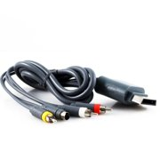 KMD 6 feet gold-plated S-Video AV Cable For Microsoft Xbox 360