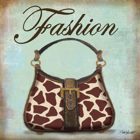 Giraffe Purse Poster Print by Todd Williams