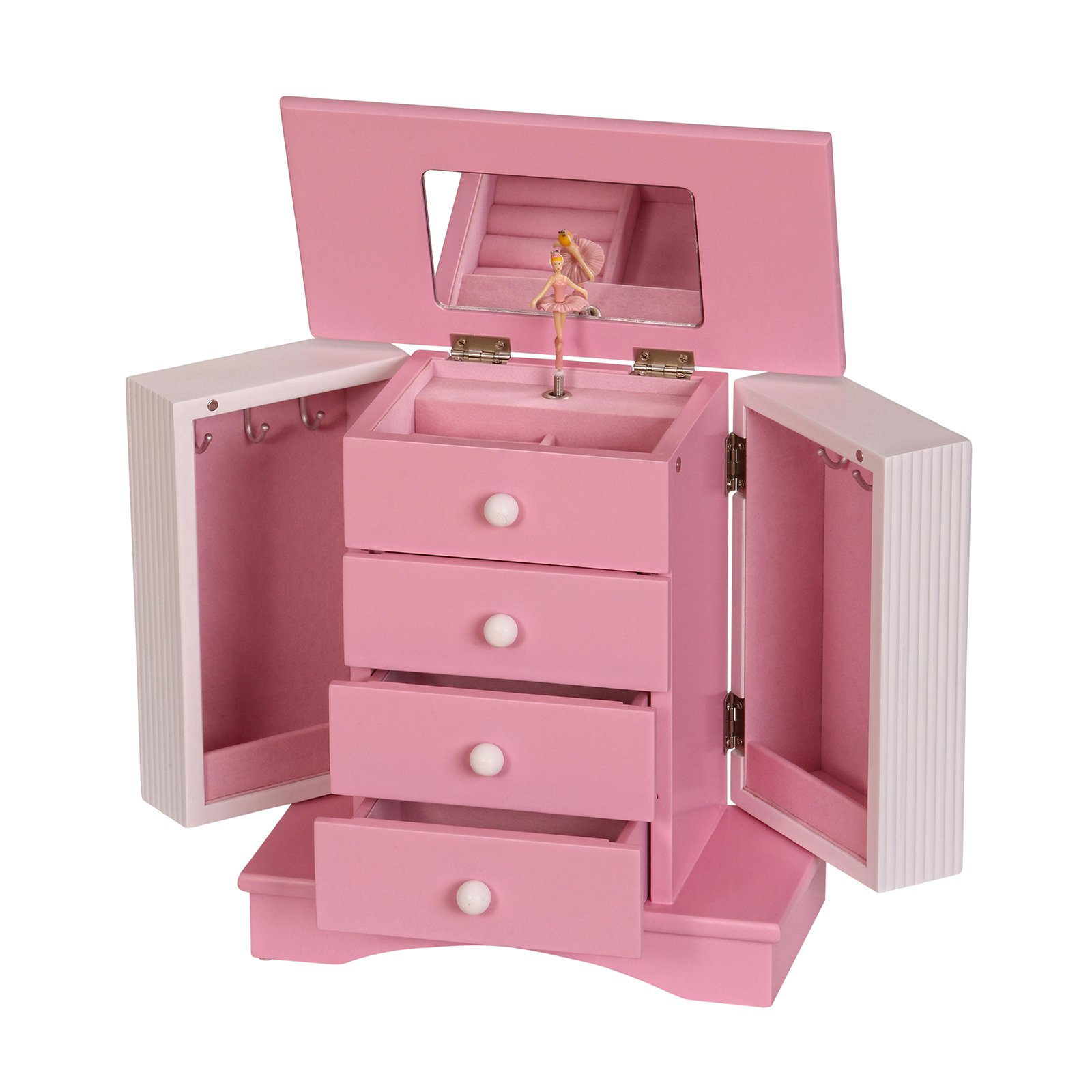 Mele & Co. Elise Girls Wooden Musical Ballerina Jewelry Box