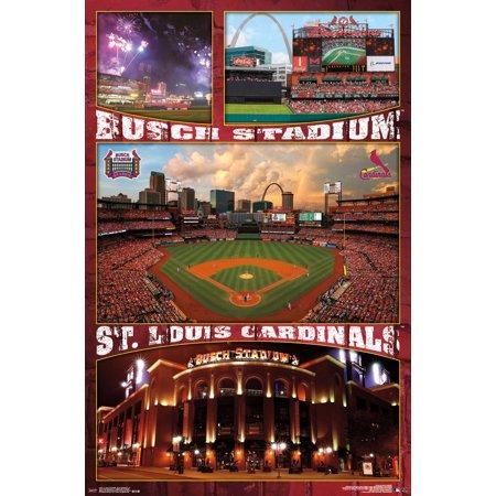 mlb st louis cardinals busch stadium 22 x 34 wall. Black Bedroom Furniture Sets. Home Design Ideas