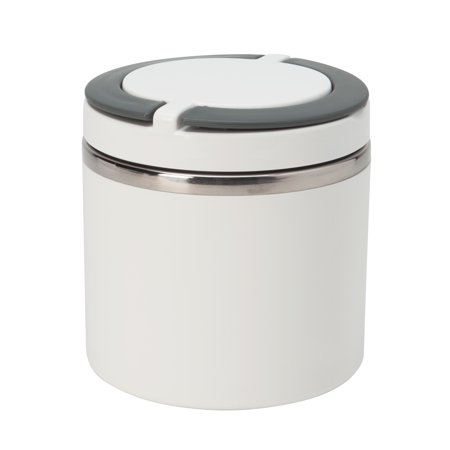Kitchen Details Round Twist 1 Tier Stainless Steel Insulated Lunch Box (Dims: 4.4 x 4.6in - -