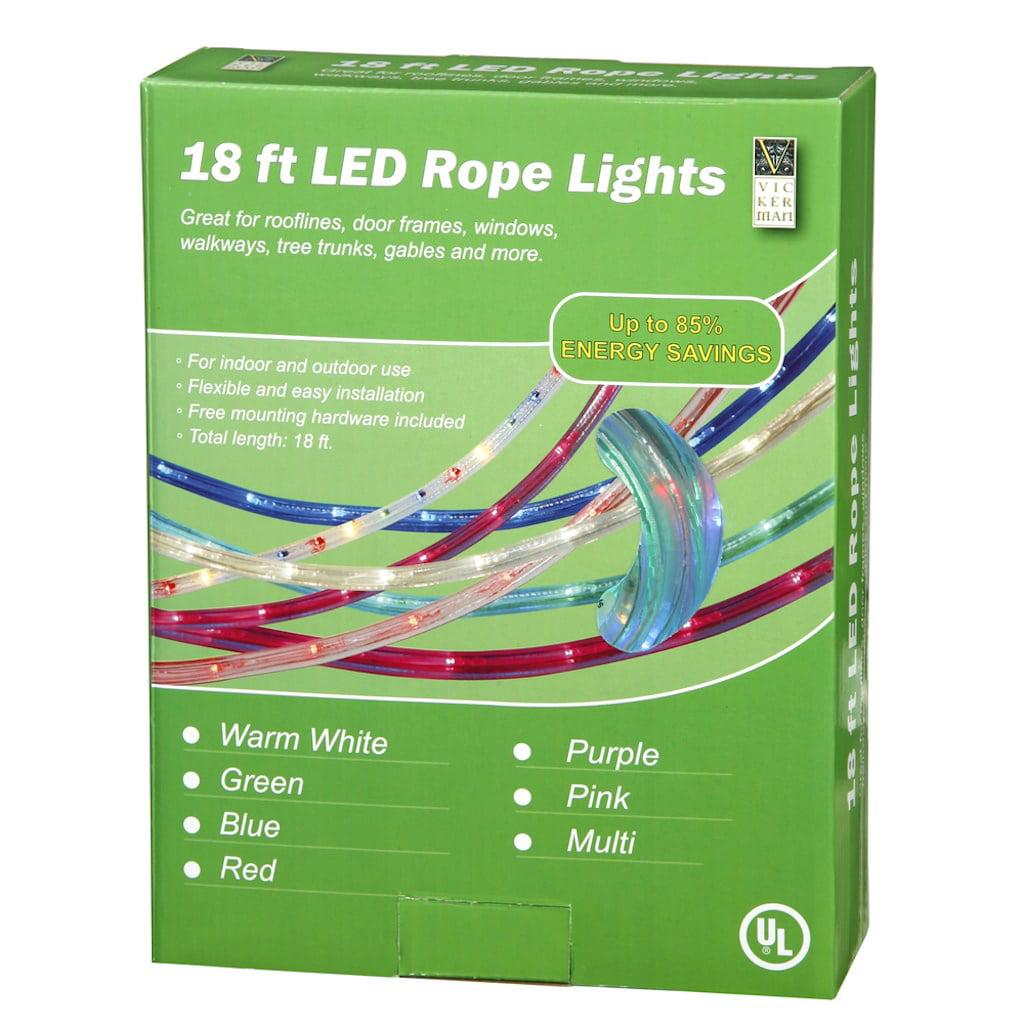 Vickerman 17779 - 18' Multi-Color LED Rope Light (Includes Accessories)