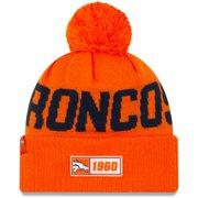 Denver Broncos New Era Youth 2019 NFL Sideline Road Sport Knit Hat - Orange - OSFA